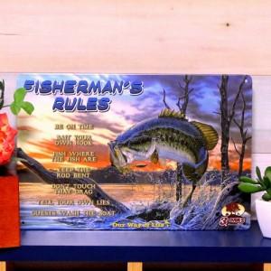 【 ブリキ看板 フィッシング fi /// 1000種類 】 メール便164円! 釣り用品 インテリア雑貨 金属製ポスター