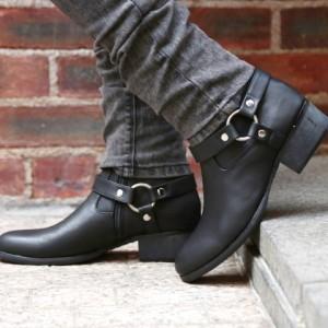 夏先取りセール開催!! ブーツ メンズ 靴 ミドルブーツ trend_d roshell JIGGYS / リングブーツ
