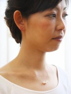 ネックレス パール 真珠 K18 あこや本真珠 3玉 スルーネックレス