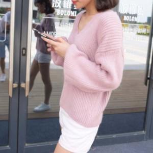 Vネックセーター/eb258