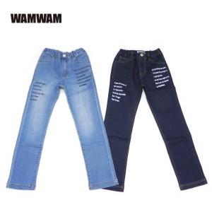 WAMWAM ワムワム 子供服 18春 夢デニム総ゴムLパンツ wam85203