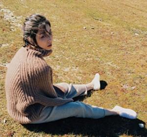 オーバーサイズニット ざっくり リブ オフタートルネック ニット トップス  ゆるニット  大きい ローゲージ 秋冬