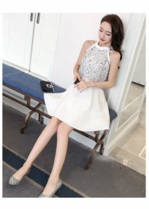 レディース 韓国風 ファッション Aライン フェミニン セクシー ワンピース 着痩せ  タイトワンピース 人気 パーティードレス 二次会