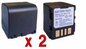 DC32充電器AA-VF7+JVC日本ビクター BN-VF714 対応互換バッテリー2個のセット Victor GR-D650/GR-D350/GR-X5/GR-DF590/GR-D250等