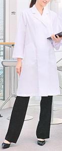 女子診察衣シングル H221 長袖 全1色 (FOLK フォーク ソワンクレエ 看護師 ドクター ナース メディカル白衣)