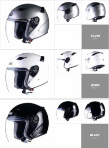 LEAD JET STRAXジェットヘルメット「SJ-8 シルバー (M・L・LL 3サイズ) 送料無料