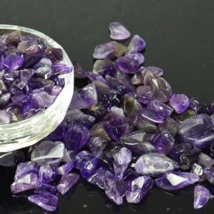 【2月の誕生石】アメジスト さざれ石(ディープパープル )50g(濃い紫のアメジスト さざれ石)| 浄化用さざれ|アメジストチップス、