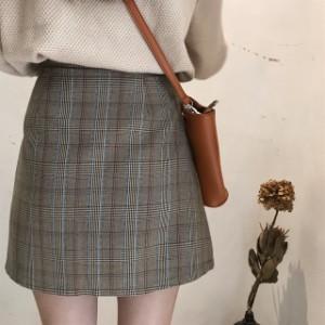 とってもキュート♪今季大人気のグレンチェック柄ミニスカート☆【海外取寄商品】frsk1143