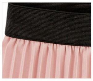 女子力高い、細かいプリーツの無地スカート 50335033