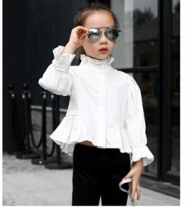 韓国風 女の子 シャツ 長袖 Tシャツ  子供服 女の子 シャツ お洒落 長袖 Tシャツ  女の子 Tシャツ 可愛いスタイル Tシャツ 韓国子供服