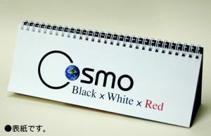 卓上式万年カレンダー 『Black x White x Red 〜COSMO』 〜一年の途中からでも使える!〜 【2個までメール便OK!】