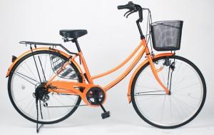 【期間限定セール中】【MC266】★送料無料★ママチャリ シマノ製6速ギア付き★自転車 21technology