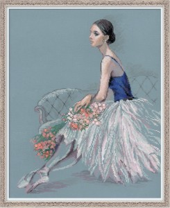 RIOLISクロスステッチ刺繍キット No.100-054 「Ballet Dancer」 (バレー・ダンサー バレリーナ) 【取り寄せ/納期1〜2ヶ月】