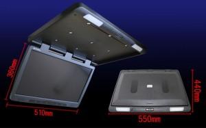 フリップダウンモニター HD液晶採用 22インチフリップダウンモニター(F2218)【ブラック】ヘッドレストモニター・サンバイザーモニタ