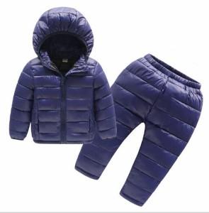 女の子ダウン2点セット上下セット子供キッズ/ダウンコートとダウンパンツ/ダウンジャケット冬物ボーイズ小学生ズボン/フードパーカ男の子