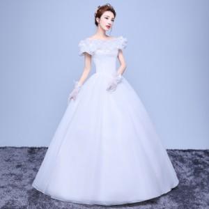 febfd8cde8c05 オフショルダー 着痩せ ウエディングドレス 白ホワイトドレス 舞台衣装 パーティドレス イブニングドレス 結婚式 演奏会 二次会の通販はWowma!