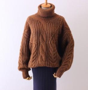 【秋冬新作】 タートルネック ニットセーター  全6色