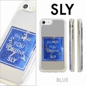 iPhone8 背面ケース iPhone7 iPhone6s iPhone6 兼用 ブランド SLY スライ 背面 ラメ入り グリッターケース ウォーターミラー