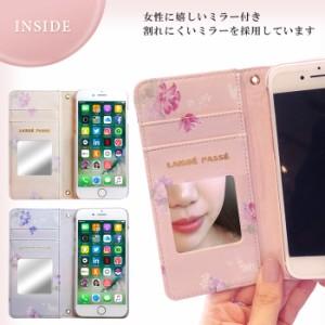 iPhone8 ケース 手帳型 iPhone7 iPhone6s iPhone6 兼用 アイフォン カバー 花柄 ブランド LAISSE PASSE レッセ・パッセ フラワープリント