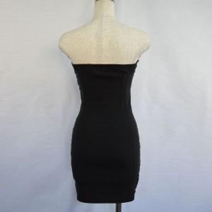 キャバドレス 95B 黒 ブラック ボディコン ミニ ドレス オフショル レース シースルー ミニワンピ ナイト パーティー 送料無料