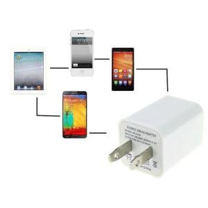 お試[USB 電源アダプタ 2ポート] iphone4/5/6/7 iphone8 plus コンセント 充電器 [2ポートで最大2.1Aの出力/各ポート:最大1A]