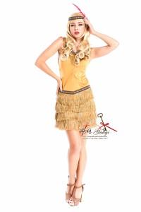 【送料無料】コスチューム インディアン 民族 衣装 フリンジ セクシー ミニ丈 タンクトップ コスプレ クリスマス YW M lary-1241