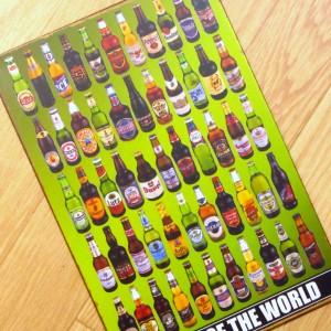 【ブリキ看板 世界のビール// 1000種類】 メール便164円! BARインテリア雑貨  金属製ポスター