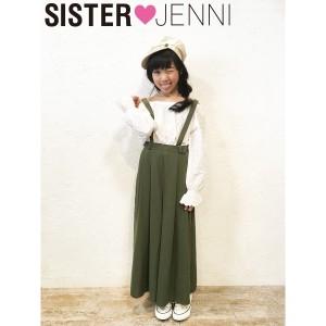 JENNI ジェニィ ジェニー 子供服 18春 ポリウエザーワイドパンツ je84736
