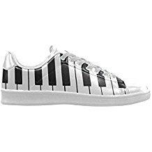 mens.スニーカー D-Story Piano Keybord Action Leather Men's Low Top Sneakers 正規輸入品