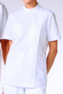 360-30 レディス医務衣 半袖 全1色 (看護師 ドクター ナース 介護 メディカル白衣 「KAZEN」)