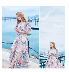 まるでお姫様♪花柄フリルがとってもキュートなワンピース☆5203