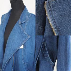 【即納商品あり】襟がとってもオシャレなデニムジャケット