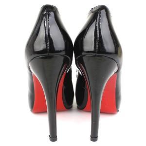 クリスチャン・ルブタン パンプス 靴 パテント 黒 size37