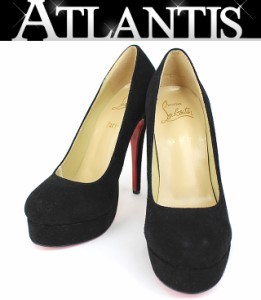 クリスチャン・ルブタン パンプス 靴 スエード 黒 size39