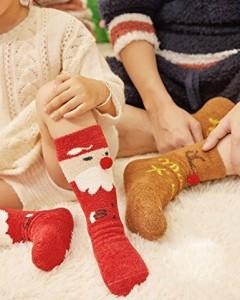 レディース冷え取りウールソックス クルーソックス かわいい 防寒 パイル編みでぬくぬくあったか靴下 5足セットお買い得!