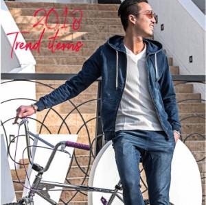 ◆送料無料◆ セットアップ メンズ スウェット スウェットデニムセット カットデニム パーカー 上下 ジョガーパンツ 2018春新作 trend_d