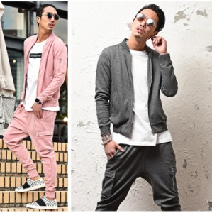 ◆送料無料◆セットアップ メンズ スウェット MA-1 上下 ジョガーパンツ カーゴパンツ 2018春新作 trend_d