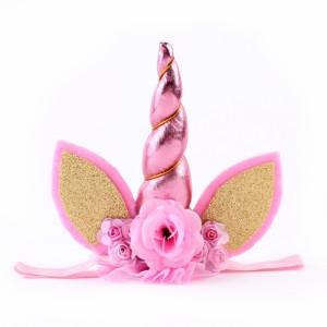 レースヘアバンド 花 ベビー髪飾り フラワー/記念写真 誕生日 プレゼント ギフト 出産祝い/おしゃれ【G256】