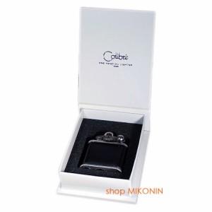 Colibri コリブリ フリントオイルライター ニッケルバレル革巻き黒 308-0032