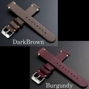 時計 腕時計 ベルト バンド EMPIRE 革 本革 イタリアンレザー ハンドステッチ ワンタッチで簡単装着 イージークリック