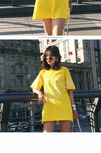 tシャツワンピース 半袖ロンt レディース ロングtシャツ ドロップショルダー ゆったり おしゃれ 夏 ビッグt tシャツワンピ ロンティー