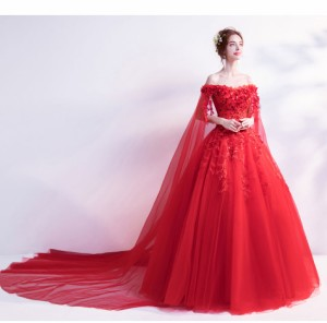 5de5e9f26b6ca 新品人気 花嫁ドレス ウェディングドレス 赤 二次会 パーティードレス ロングドレス 大きいサイズ 結婚式の通販はWowma!(ワウマ) -  松本企画|商品ロットナンバー: ...