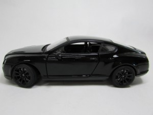 1:24 Bentley Continental GT ダイキャストミニカー ベントレー コンチネンタル GT ブラック 【大きいサイズ】