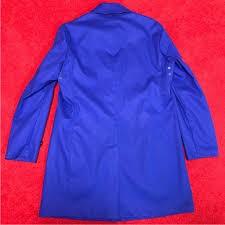 マッキントッシュ・ロンドン、ライナー付きステンカラーコート、XLサイズ、ブルー、三陽商会