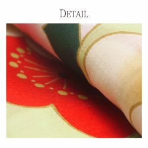 【きもの道楽】ブランド浴衣 東レ セオアルファ  オプション多数 花火大会 夕涼み会 夏祭り【白 赤 華丸紋】【4DY-10】 金魚 椿