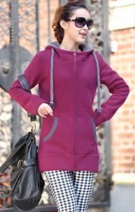 パーカー コート 厚い 大きい シンプル 厚手 スウェット ロング丈 単色 裏起毛フード カジュアル 全三色