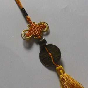 中国結び風水飾り(古銭) 中国雑貨★ 幸せを呼ぶ風水 開運 グッズ インテリア 置物