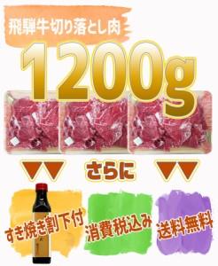 【肉のひぐち】飛騨牛切り落とし肉400g×3パック(1200g)◆普段使いに便利な切り落とし肉をお値打ちにご提供◆訳あり◆送料無料