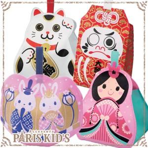 和風 ラッピング 用品 ラッピング袋 招き猫 ひな祭り お守り ダルマ