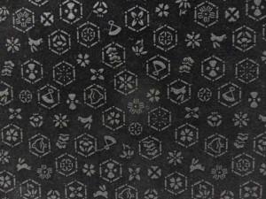 サブバックとしても重宝します。留袖 訪問着 小紋 礼装用 サブバック日本製 印伝調 和装 バック 黒地 亀甲松皮文柄 no3002